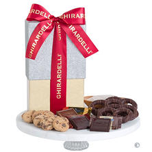 Ghirardelli Chocolate Gift Box with Red Ribbon