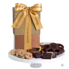 Ghirardelli Chocolate Gift Box with Gold Ribbon