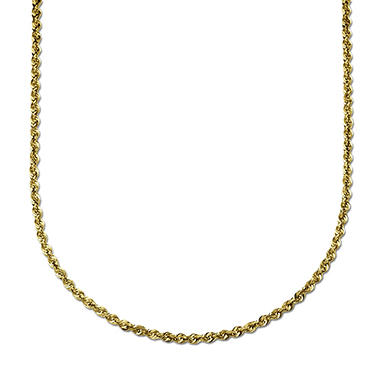 "30"" Rope Chain in 14K Yellow Gold"