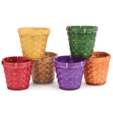 "Fall Basket Pot Cover 4"" (24 ct.)"