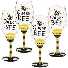 Wine Glasses - Queen Bee ( 4ct.)