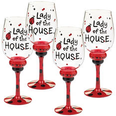 Wine Glasses - Lady Bug ( 4 ct.)