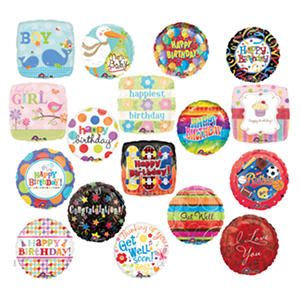 """All Occasion 18"""" Foil Balloon Assortment - 102 ct."""