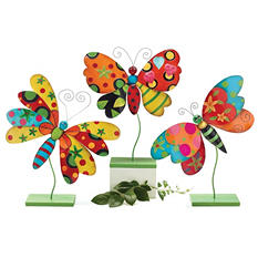 Tin Butterfly - Set of 3