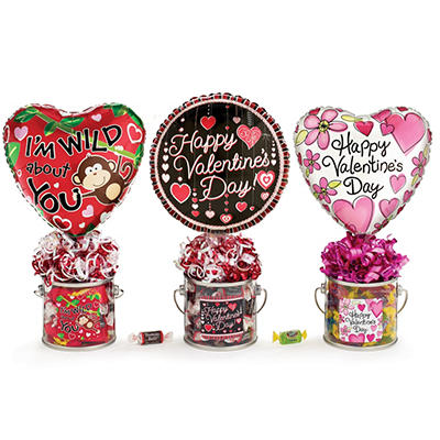 Valentine Paint Gift Cans - Adult - Set of 9