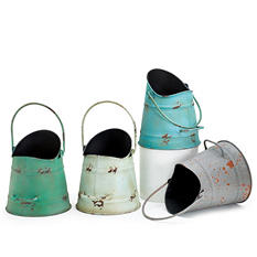 Tin Planter - Set of 4