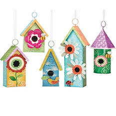 Spring Tin Birdhouses (5 ct.)