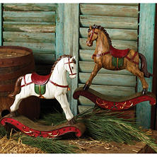 Rocking Horse Set - Brown/White (4 ct.)