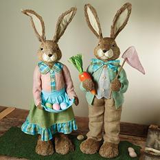 Garden Bunny Couple