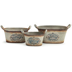 Nested Tin Planter - Set of 3
