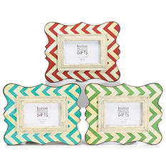 Chevron Wooden Frames (6ct.)