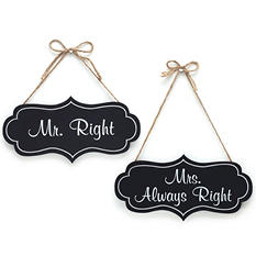 Wedding Décor Hanging Wood Sign Assortment (6 ct.)