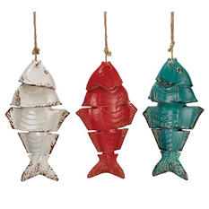 Ceramic Fish Wind Chimes (Set of 3)