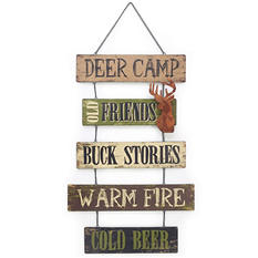 Wall Hanging Signs, Deer Camp (Set of 2)