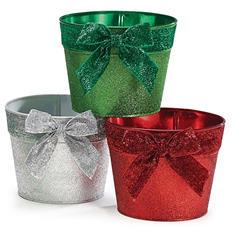 Glitter Tin Pot Covers (6 ct.)
