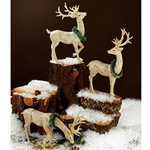 Large Reindeer with Snowflake (3 pk.)
