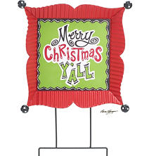 """Merry Christmas Y'all"" Yard Stake (2 pk.)"