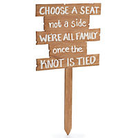 Wedding Yard Stake Set - Choose a Seat Not a Side (Set of 2)