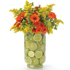 Double Glass Vase with Inner Cylinder - 4pk