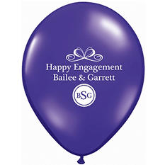 "11"" Latex: Custom Imprint Balloon - Standard - 100 ct."