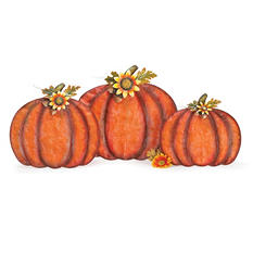 Harvest Mesh Pumpkins