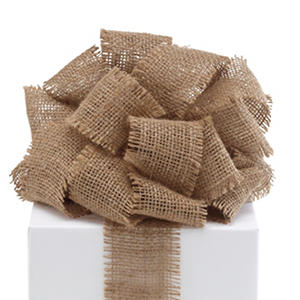 "2.5"" Burlap Ribbon - Natural - 3 Rolls (10 yrds ea.)"