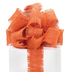"2.5""Burlap Ribbon - Orange - 3 Rolls (10 yrds ea.)"