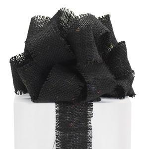 "2.5"" Burlap Ribbon - Black - 3 Rolls (10 yrds ea.)"