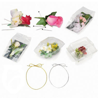Wedding Pins, Bags, and Boxes