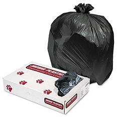 Jaguar Plastics - Low-Density Can Liners, 33gal, .6mil, Black -  200/Carton