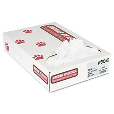 Jaguar Plastics - Industrial Strength Commercial Can Liners, 30gal, .9mil, White -  100/Carton