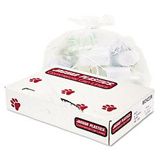 Jaguar Plastics - Industrial Strength Commercial Can Liners, 10gal, .5mil, White -  500/Carton