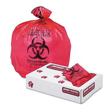Jaguar Plastics 10 gal. Biohazard Health Care Trash Bags (500 ct.)