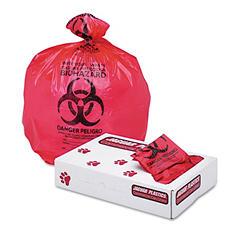 Jaguar Plastics 15 gal. Biohazard Health Care Trash Bags (250 ct.)