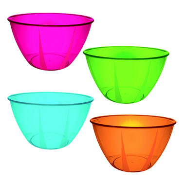 24 oz. Hard Plastic Bowls - Various Colors - 48 ct.