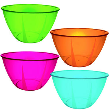 160 oz. Hard Plastic Bowls - Various Colors - 12 ct.