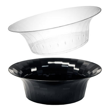 10 oz. Deluxe Bowls - 240 ct. Clear or Black