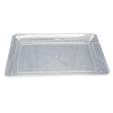 "Plastic Trays - 12"" x 18"" - Black, White or Clear - 6 pk."