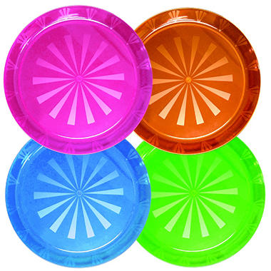 "12"" or 16"" Hard Plastic Trays - Various Colors - 12 ct."