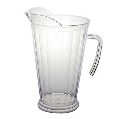 Plastic Pitchers - Clear - 60 oz. - 6 pk.
