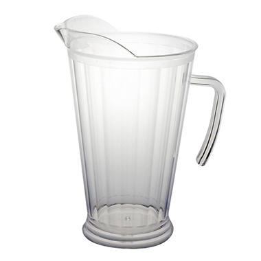 Plastic Pitchers - Clear - 60 oz. - 6 pk.