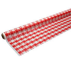 "Red Gingham Banquet Rolls - 40""x100' - 4 pk."