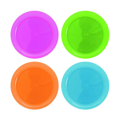"Neon Assorted Party Plates - 7.5"" - 480 ct."