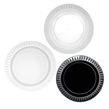"Party Essentials Elegance Plastic Plates, 9"", Select Color (168 ct.)"