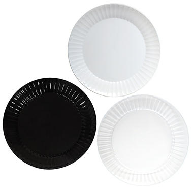 Party Essentials Deluxe Plastic Plates, 10.25