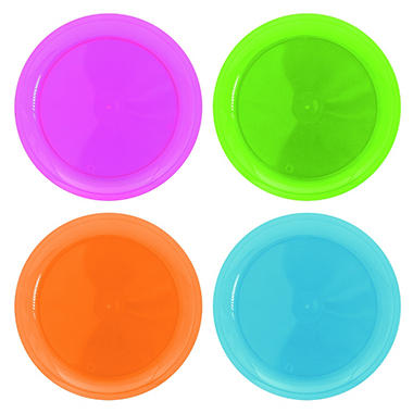 Neon Assorted Party Plates - 10.25