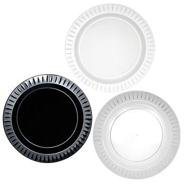 Party Essentials Elegance Plastic Plates, 10.25