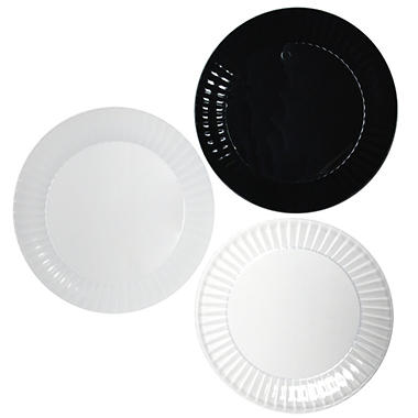 Party Essentials Deluxe Plastic Plates, 7.5