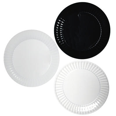 "Party Essentials Deluxe Plastic Plates, 7.5"", Select Color (288 ct.)"