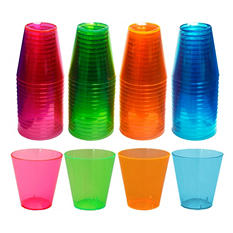 Party Essentials Brights Plastic Shot Glasses, 2 oz. (600 ct.)